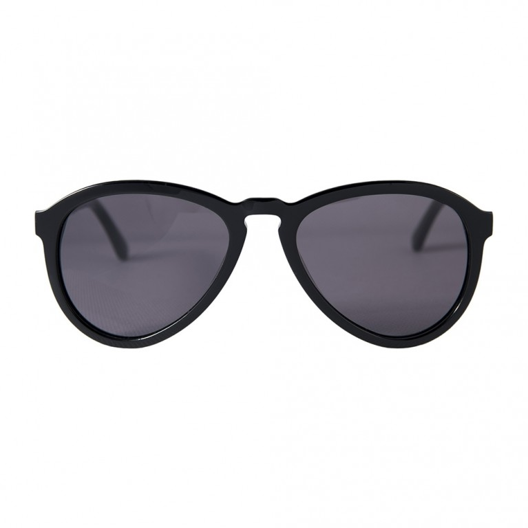 AVIATOR - BLACK GLOSSY GREY LENSES
