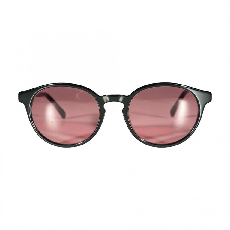 KYKLOS - BLACK GLOSSY - PINK LENSES