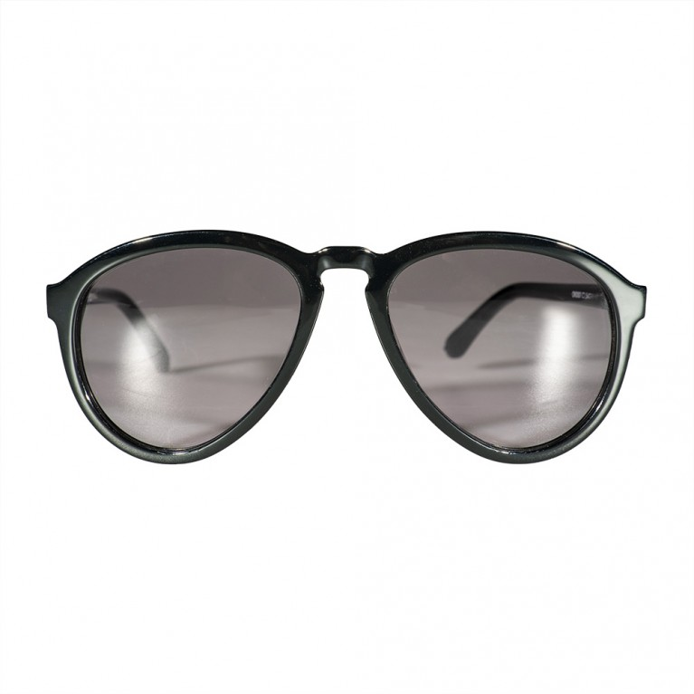 AVIATOR - BLACK GLOSSY- GREY RED LENSES
