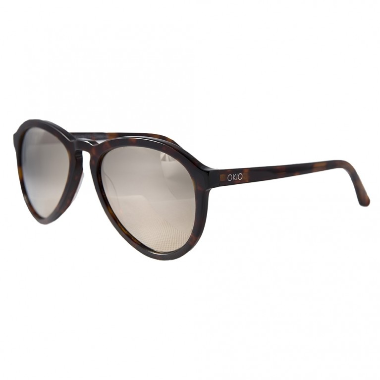 AVIATOR - BROWN TARTARUGA  GOLD MIRROR LENSES