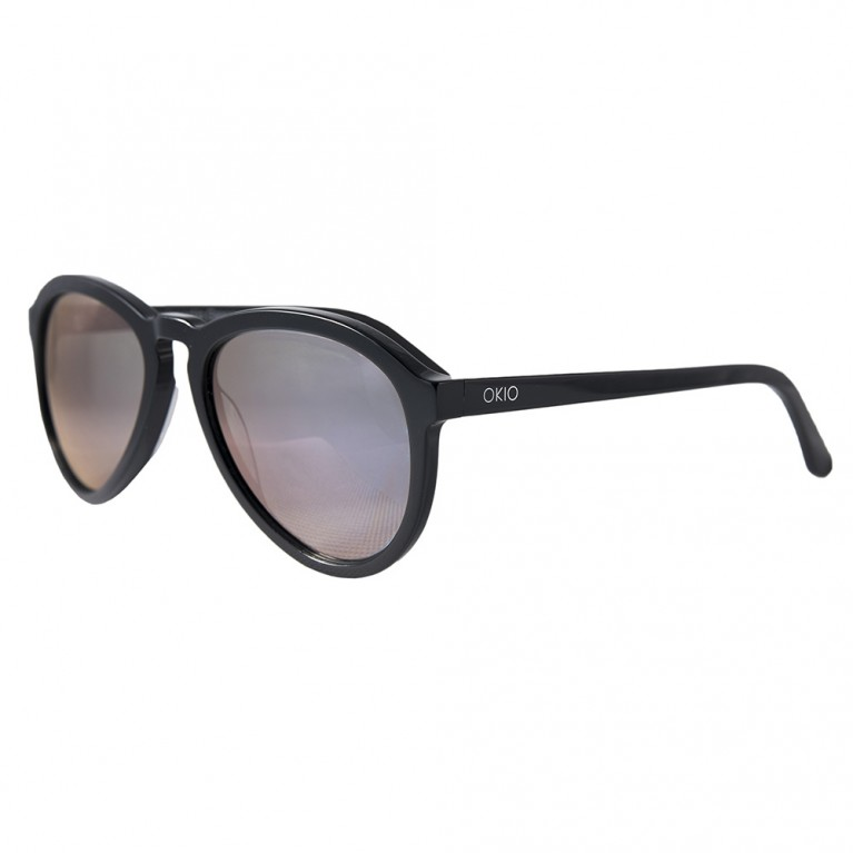 AVIATOR - BLACK GLOSSY - VIOLET MIRROR LENSES