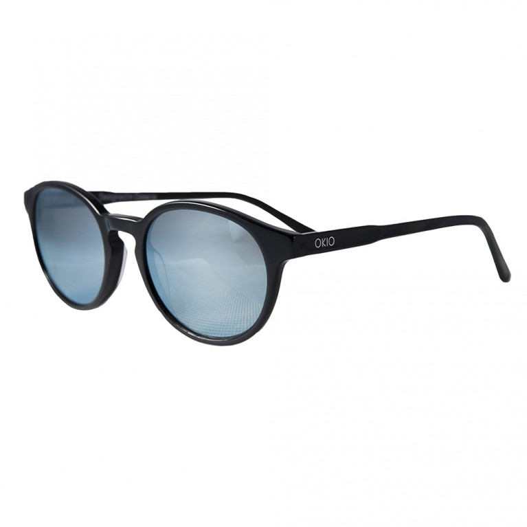 KYKLOS-BLACK GLOSSY-LIGHT BLUE MIRROR LENSES