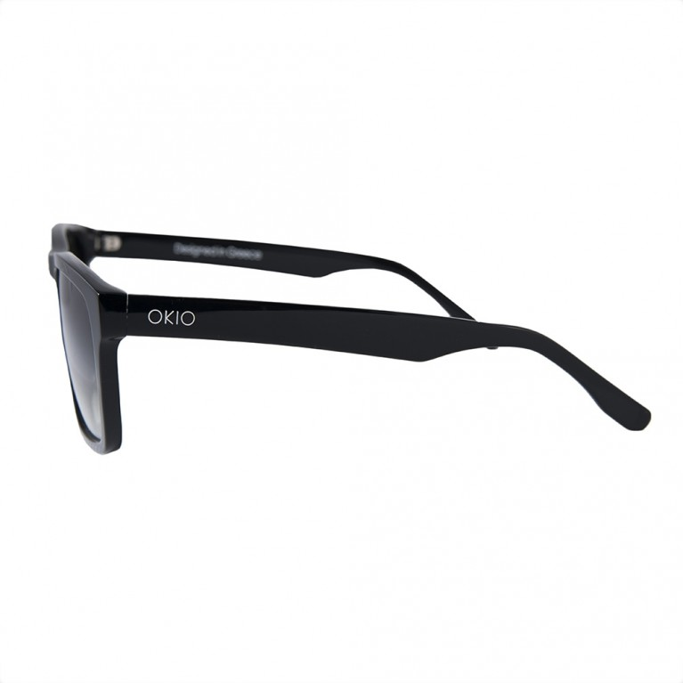 TETRAGONO-BLACK GLOSSY GREY GRADIENT LENSES