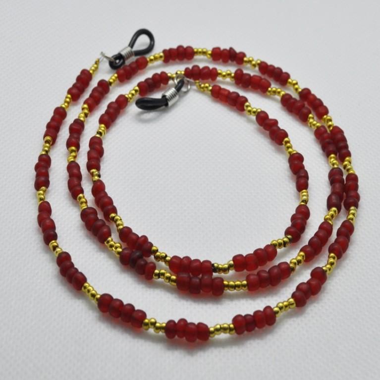 Κορδόνι  Γυαλιών Κόκκινο με χάντρες