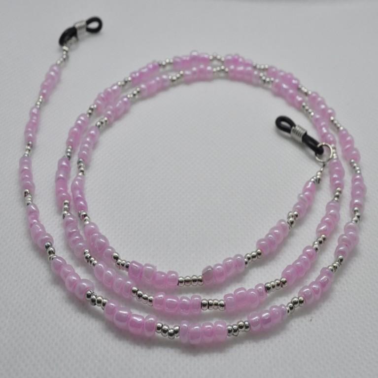 Κορδόνι Γυαλιών Ροζ με χάντρες