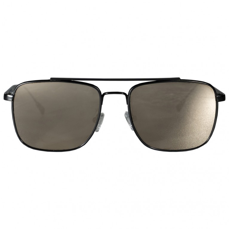 MOB - BLACK MATTE METAL - GOLD FLAT MIRROR  LENSES