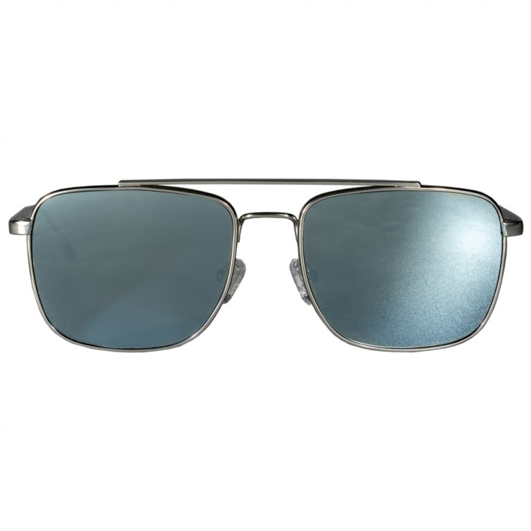 MOB - SILVER METAL - LIGHT BLUE FLAT MIRROR  LENSES